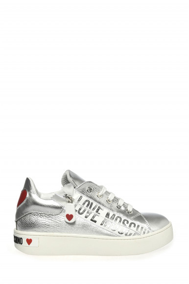 LOVE MOSCHINO SNEAKER ARGENTO 15093