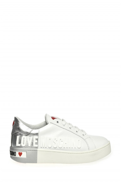 LOVE MOSCHINO SNEAKER BIANCO VITELLO 15123
