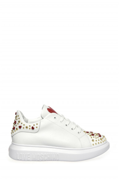 LOVE MOSCHINO SNEAKER BIANCO VITELLO 15224