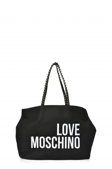LOVE MOSCHINO BORSA NERA CANVAS 4078
