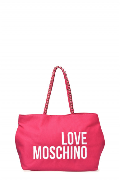 LOVE MOSCHINO BORSA FUXIA CANVAS 4078