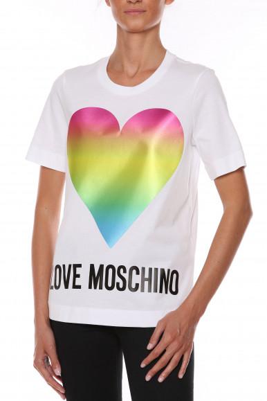 MOSCHINO T-SHIRT BIANCA CUORE W4F15-2T
