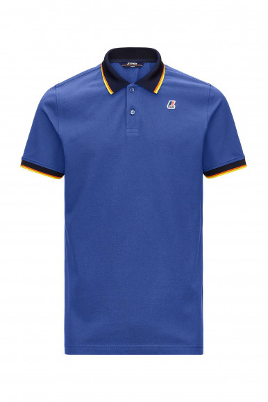 K-WAY POLO VINCENT TOTAL CONTR AZZURRO