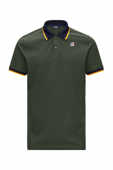 K-WAY POLO VINCENT TOTAL CONTR VERDE