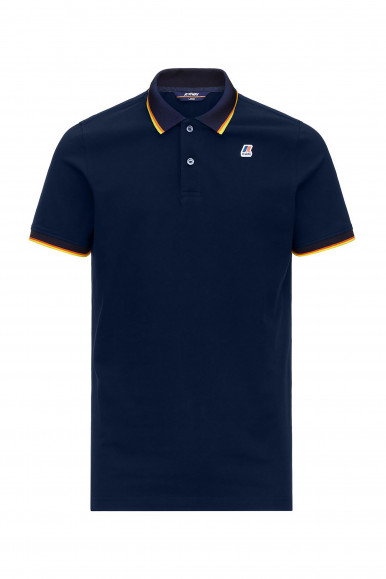 K-WAY POLO VINCENT TOTAL CONTR BLU
