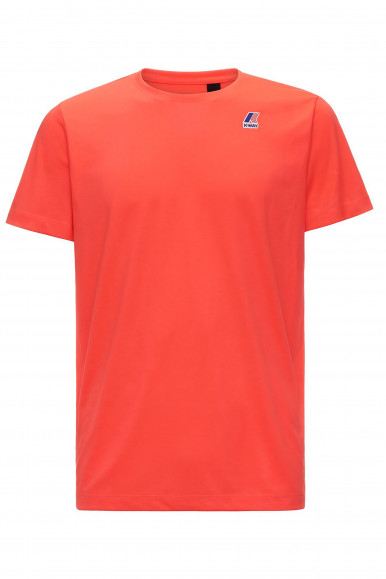 K-WAY T-SHIRT EDOUARD ROSA FLUO