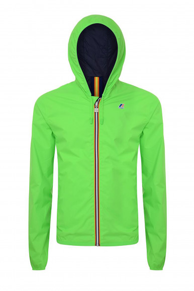 K-WAY JACQUES PLUS DOUBLE FLUO VERDE/BLU
