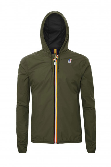 K-WAY GIUB JACQUES PLUS DOUBLE MILITARE/NERO