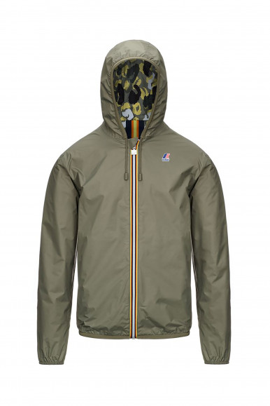 K-WAY GIUB JACQUES D. GRAPHIC VERDE MILITARE
