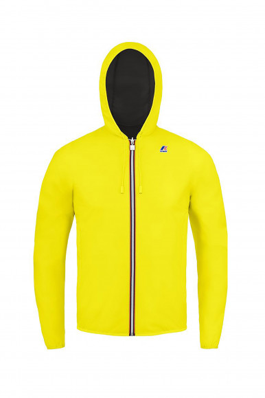 K-WAY JACQUES PLUS DOUBLE FLUO GIALLO/GRIGIO