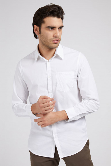 GUESS CAMICIA UOMO BIANCO SUNSET