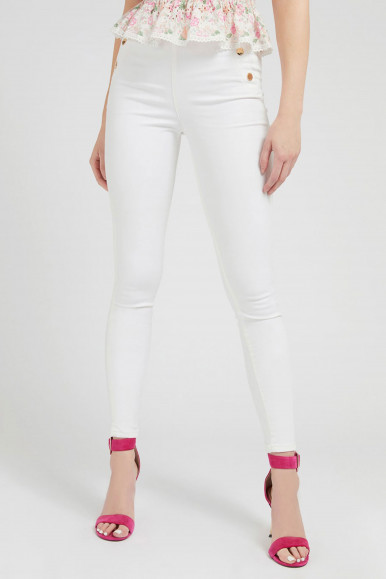 GUESS JEANS DONNA BIANCO ULTRA CURVE HIGH