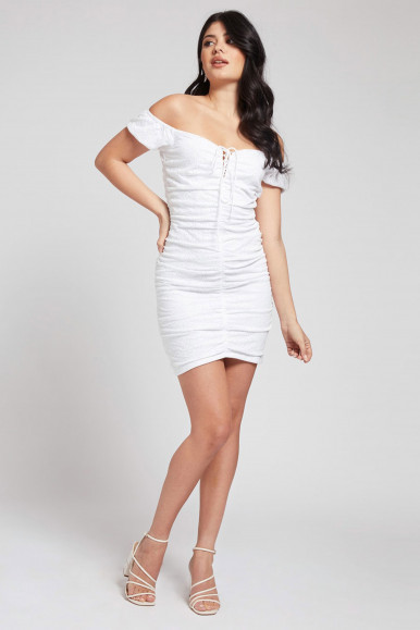 GUESS ABITO BIANCO IN PIZZO SANGALLO INGRID