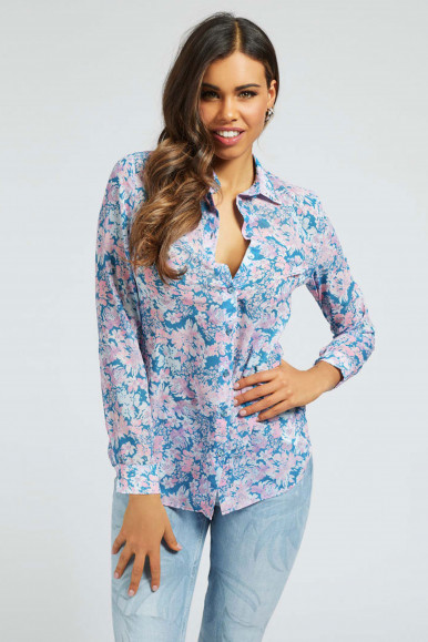 GUESS CAMICIA GEORGETTE FANTASIA CLOUIS