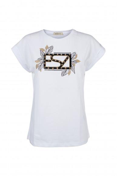 YES-ZEE T-SHIRT DONNA BIANCA T239/LU08