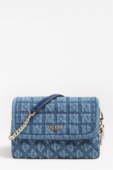 GUESS BORSA KAMINA FLAP DENIM