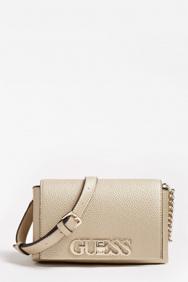 GUESS BORSA MINI ORO UPTOWN CHIC
