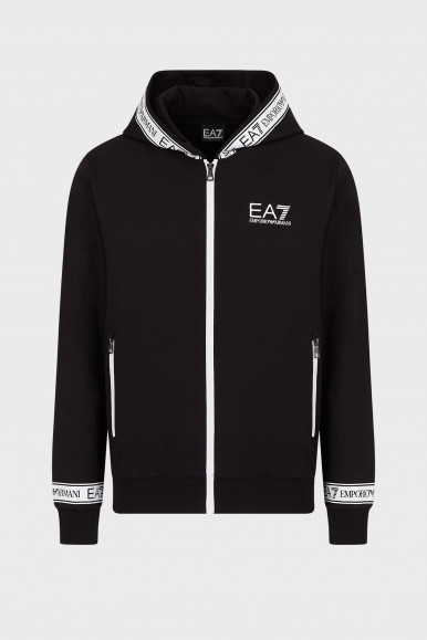 EA7 FELPA NERA 3KPM25