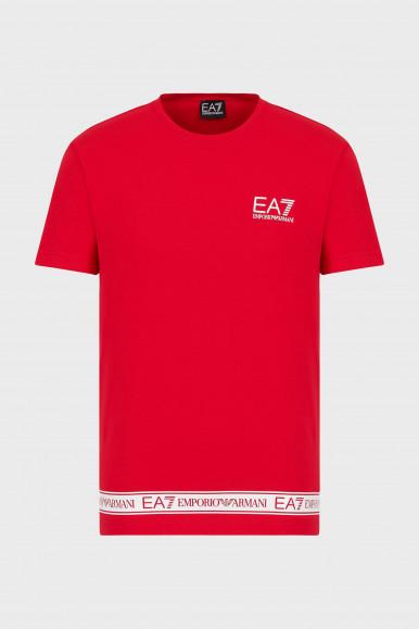 EA7 T-SHIRT UOMO ROSSO 3KPT05