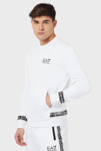 EA7 FELPA UOMO BIANCA 3KPM22