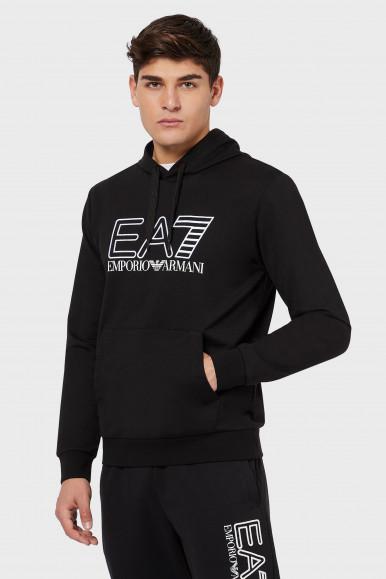 EA7 FELPA UOMO NERO 3KPMD6