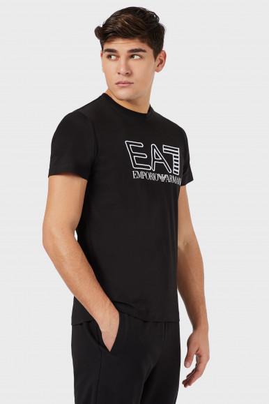 EA7 T-SHIRT UOMO NERA 3KPT11