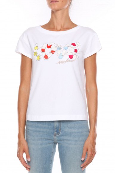 MOSCHINO T-SHIRT DONNA BIANCA LOVE W4F30-2I