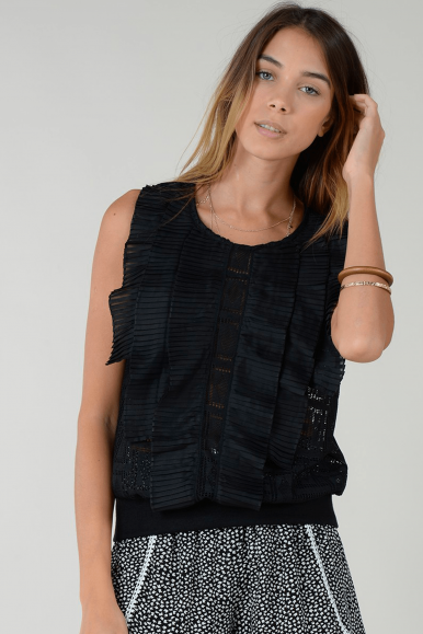 MOLLY BRACKEN TOP R1476E21 NERO