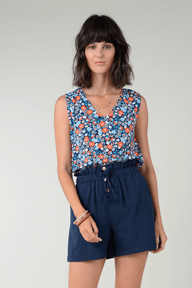 MOLLY BRACKEN TOP LA436AP21 NAVY