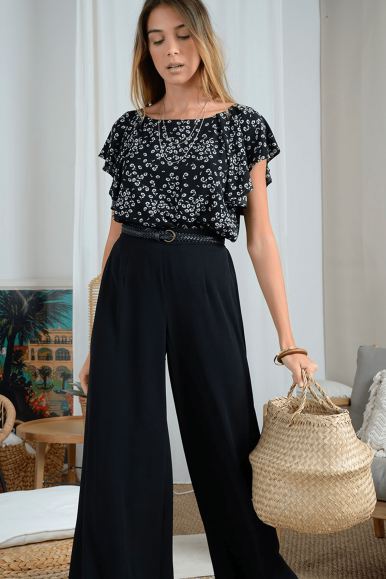 MOLLY BRACKEN TOP LA381AP21 NERO