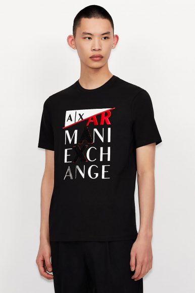 ARMANI EXCHANGE T-SHIRT 8NZT72 NERO
