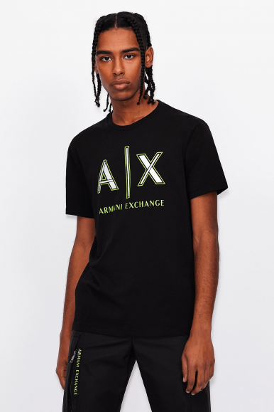 ARMANI EXCHANGE T-SHIRT 3KZTAF NERO
