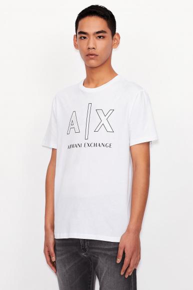 ARMANI EXCHANGE T-SHIRT 3KZTAF BIANCO