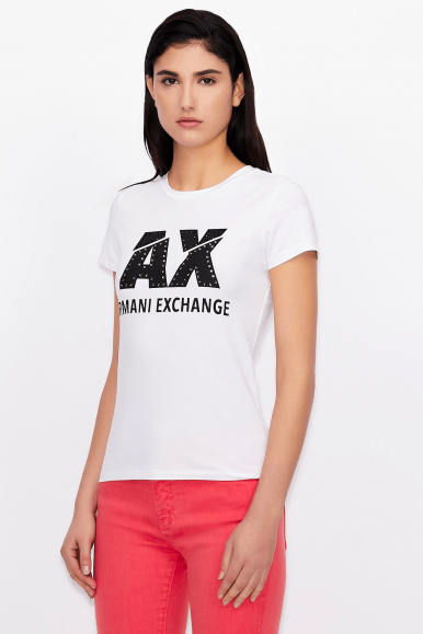 ARMANI EXCHANGE T-SHIRT 8NYT86 BIANCO