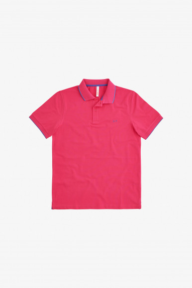 SUN 68 POLO FUXIA SMALL STRIP A31110