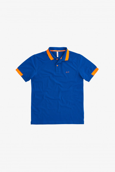 SUN 68 POLO ROYAL BIG ST FLUO A31119