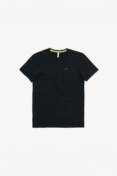 SUN 68 T-SHIRT NERO POCKET T31101