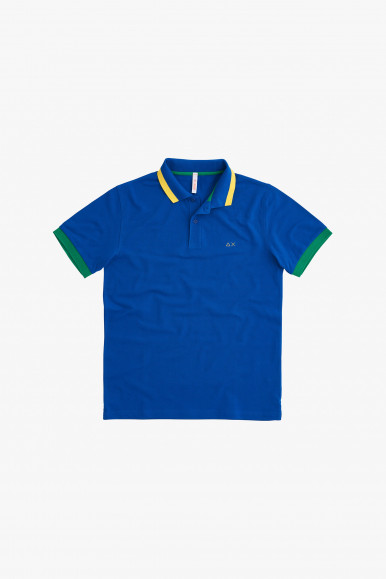 SUN 68 POLO SMALL STRIPES FLUO EL. A31118