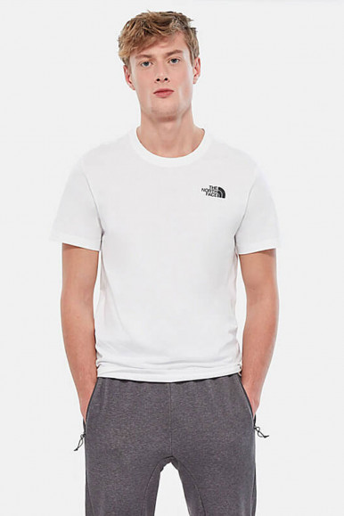 T-SHIRT UOMO THE NORTH FACE BIANCO RED BOX