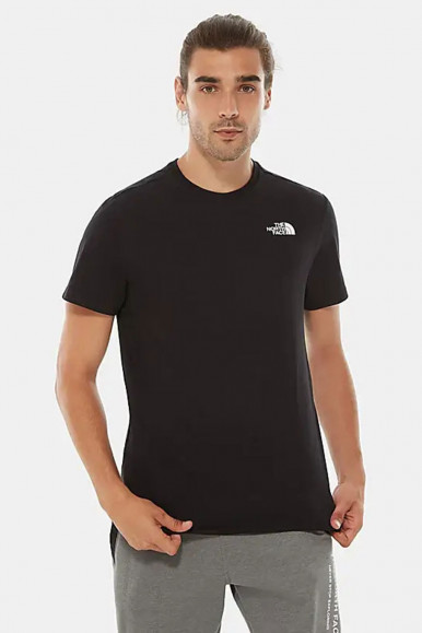 T-SHIRT UOMO THE NORTH FACE NERO RED BOX