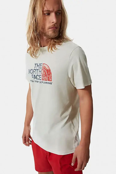 T-SHIRT UOMO THE NORTH FACE BEIGE RUST 2