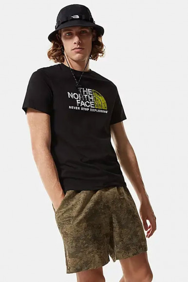 T-SHIRT UOMO THE NORTH FACE NERO RUST 2