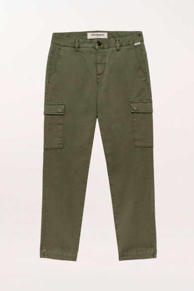 PANTALONE DONNA CARGO MILITARE ROY ROGER'S