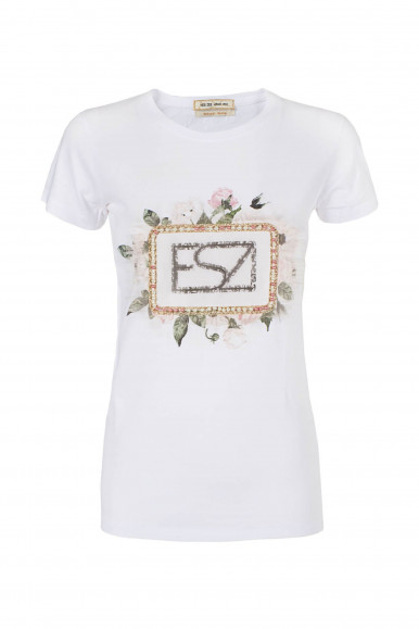 T-SHIRT DONNA BIANCO YES-ZEE T226-LU04