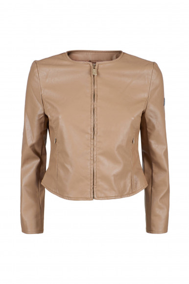GIACCA DONNA ECOPELLE BEIGE YES-ZEE