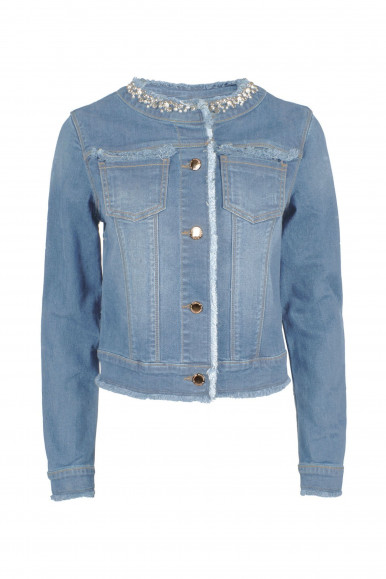 GIACCA DONNA DENIM COLLO CHANNEL YES-ZEE