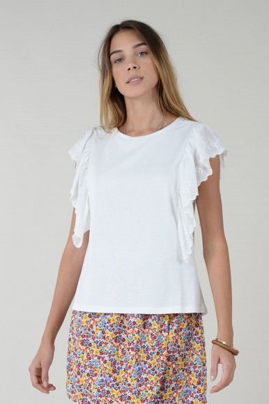 T-SHIRT BIANCO MOLLY BRACKEN T1153P21