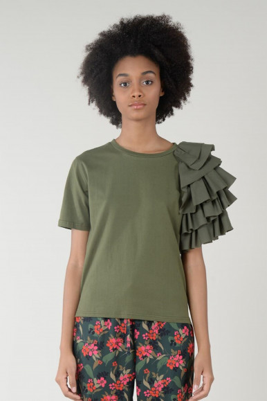 T-SHIRT KHAKI MOLLY BRACKEN EL132P21