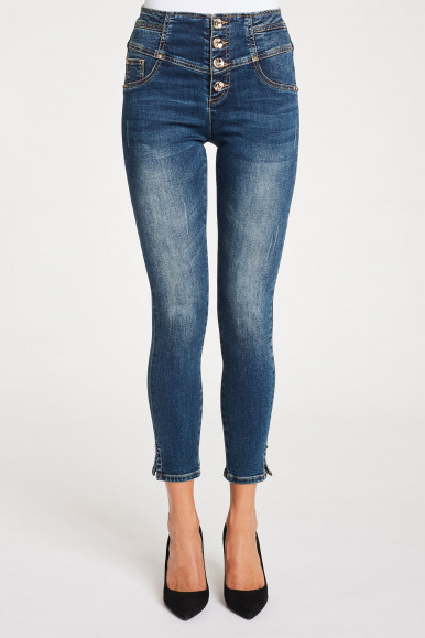 JEGGINGS VITA ALTA GAUDì DENIM BD26034
