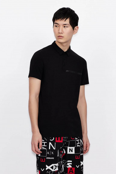 POLO UOMO ARMANI EXCHANGE NERO 3KZFHA
